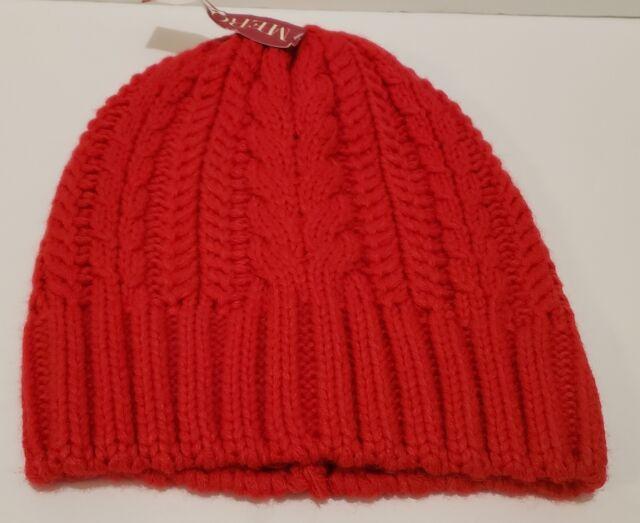74fe3d619a3 Women RED Beanie Toboggan Thick Warm Winter Knit Hat Slouchy Merona Cap  stocking