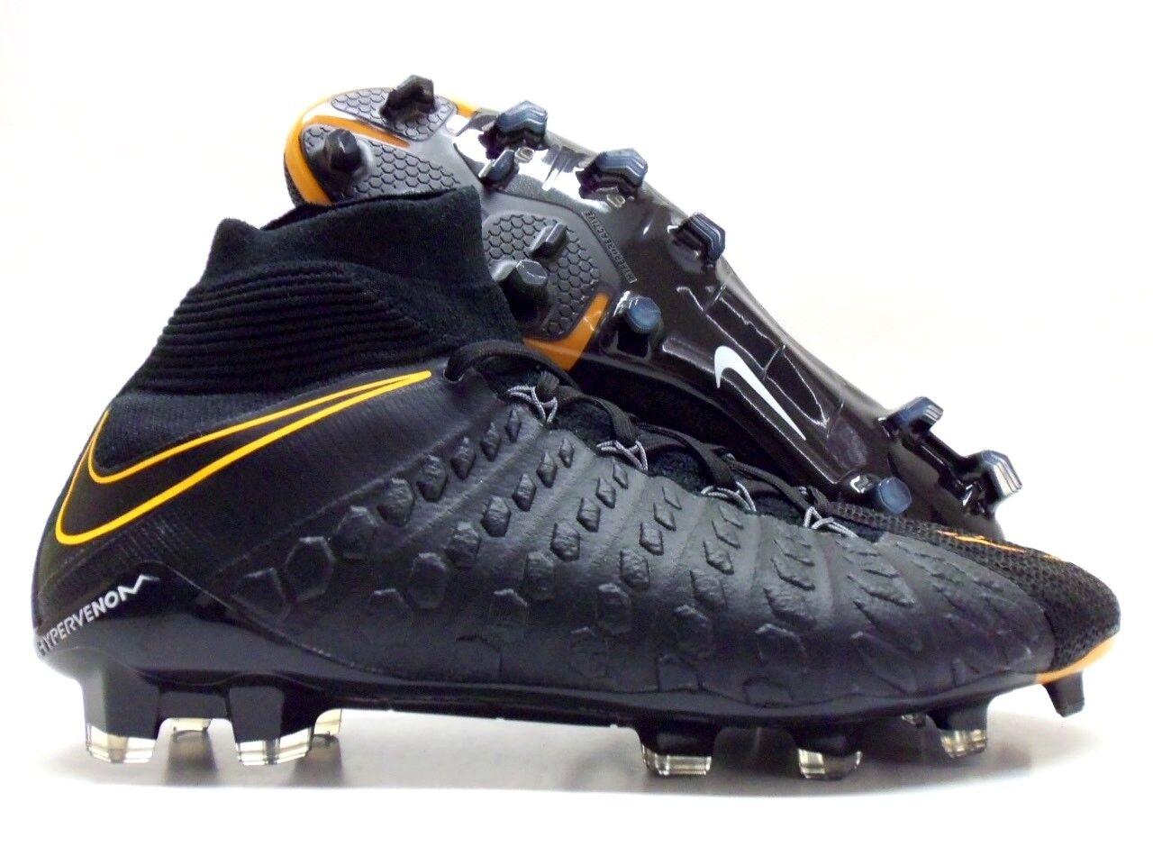 Nike hypervenom 3 df fg id calcio galloccia nero / totale orange uomini 9 [915411-992]
