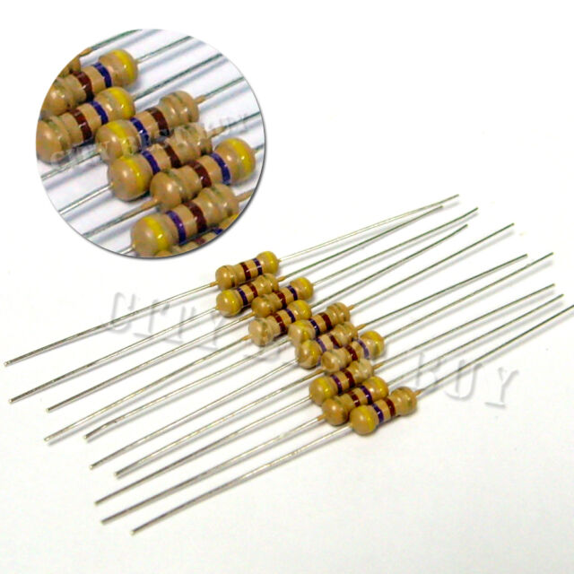 Carbon Resistor 0.25w 1//4w 470 Ohm 470R x 100
