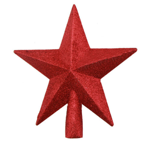 Christmas Tree Gold Red Silver Star Topper Ornament Home Party Xmas Top Decor