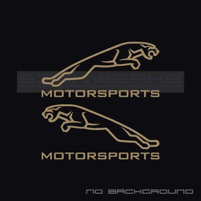 Jaguar Motorsport Decal Sticker logo british Racing F type XJR UK Pair