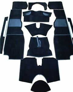 New-Black-Carpet-Kit-for-Triumph-TR4A-TR6-1965-76-Factory-Made-in-England-Black