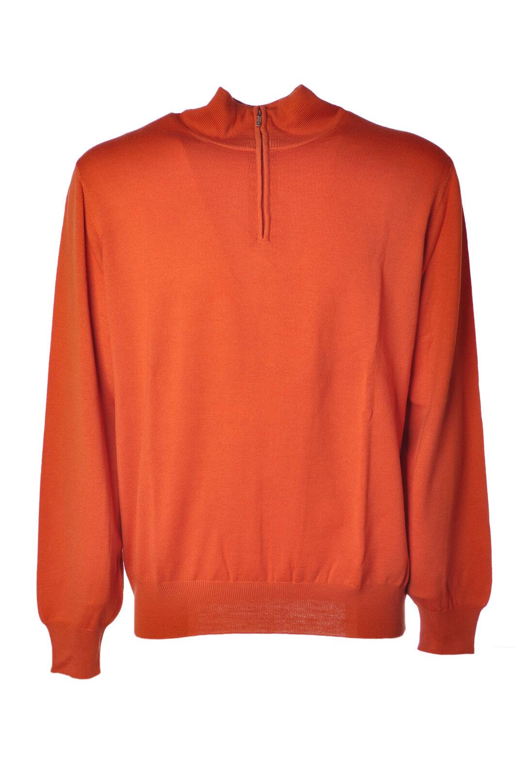 Alpha - Knitwear-Sweaters - Man - Orange - 4569413L184418