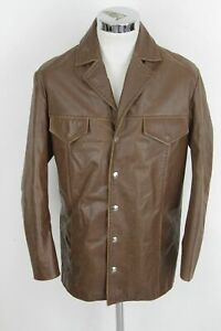 Jacket Coat Leather E7213 Vintage Giacca 50 Iceberg Pelle Giubbotto g6zaYq