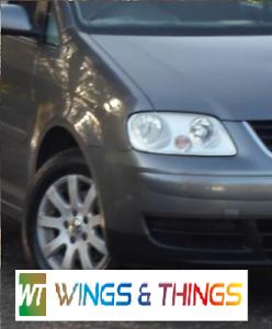 VW TOURAN 03-06 DRIVER RIGHT O//S WING PLATINUM GREY LD7X