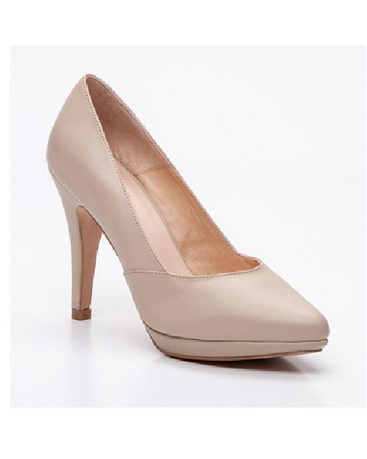 PASCAL SIZE MORABITO JUDITH BEIGE LEATHER COURTS HIGH HEELS SIZE PASCAL 6 39 848258