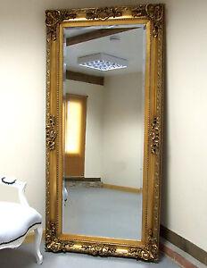 Paris Full Length Large Ornate Floor Wall hung Mirror Gold 5\'9\