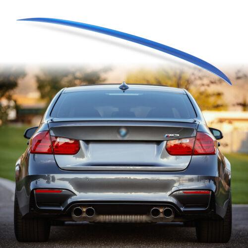 Painted Rear Trunk Lip Spoiler for BMW F30 F80 Sedan M3 Style Estoril Blue B45
