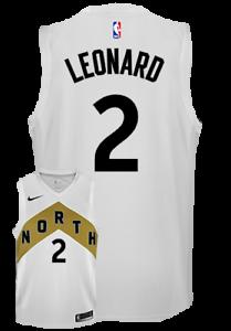 7b6047ff002 Details about Raptors Men s Swingman OVO City Edition White Kawhi Leonard  Jersey Small NBA