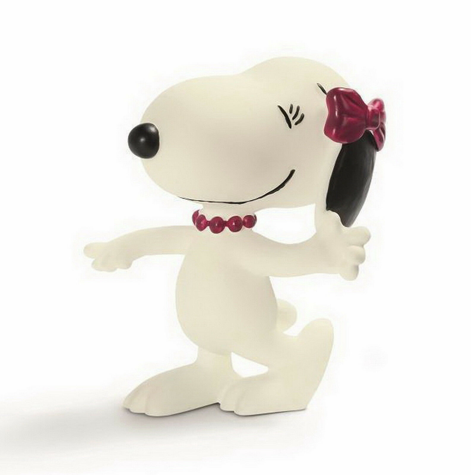Pvc figurine bd snoopy peanut schleich belle with tea pot cow girl