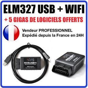 valise diagnostic elm327 usb wifi multimarques obd2 100 en fran ais ebay. Black Bedroom Furniture Sets. Home Design Ideas