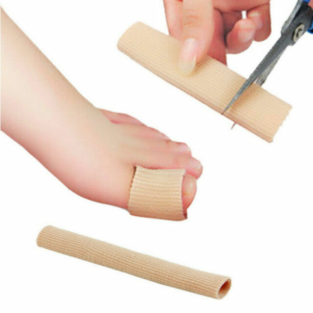 NEW Fabric Gel Tube Bandage Finger & Toe Protectors Foot Feet Pain Relief CAF