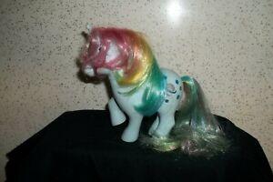 My Little Pony MOONSTONE Rainbow Blue Glitter Saturn Stars G1 Vintage Hasbro