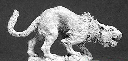 1 x ELVEN HUNTING CAT WARLORD REAPER figurine miniature rpg jdr felin  14453