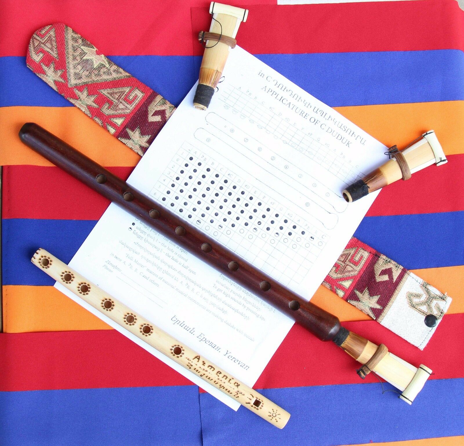 DUDUK+3reeds+case, NEW FROM ARMENIA, Hand made APRICOT WOOD 100%+instr+Flute gif