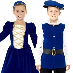 Intelligente Médiéval Tudor Kids Fancy Dress Historical Anglais Renaisaance Costume Enfant-afficher Le Titre D'origine