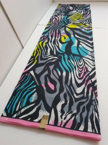 African Ankara Kente Print Fabric PolyCotton//Polyest Bright /& Colourful Per Yard