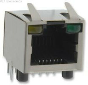 AMPHENOL-COMMERCIAL-PRODUCTS-RJHSE-5385-02-Jacke-RJ45-W-LED-Shield-2PORT