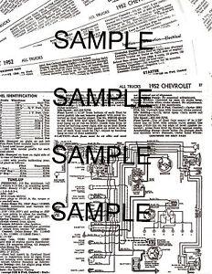 1954 CHEVROLET TRUCKS 54 TUNEUP ELECTRICAL MECHANICAL ...