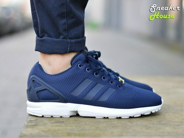 new arrival 0c9ef 3b71b adidas ZX Flux Retro Running Trainers Navy Blue M19841 UK 9.5 EU 44  4054067317379
