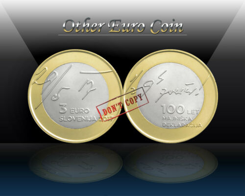 Commemorative 3 Euro Coin *UNCIRCULATED MAY DECLARATION SLOVENIA 3 EURO 2017