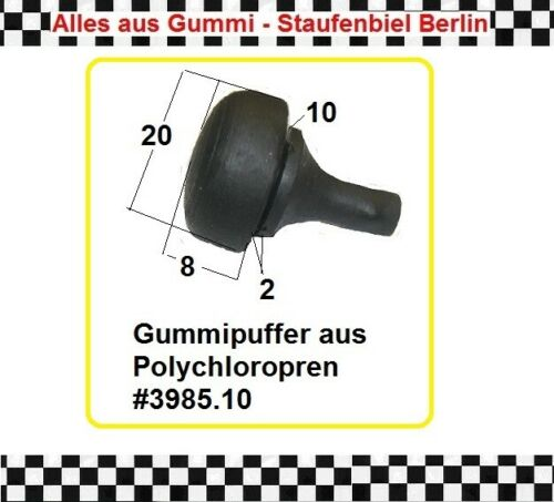 3x Anschlagpuffer Gummipuffer Gerätefuss Puffer Anschlag 3985.10