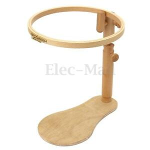 image is loading adjustable sit on beech wooden round embroidery lap - Wooden Cross Frame