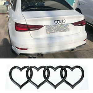 ABS-Abzeichen-Emblem-Kofferraum-Hinten-Liebe-Dekoration-Herzen-Llogo-Fuer-Audi