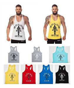 Mens-Gym-Muscle-Sleeveless-Tops-Tank-Top-Sport-T-shirt-Bodybuilding-Fitness-Vest