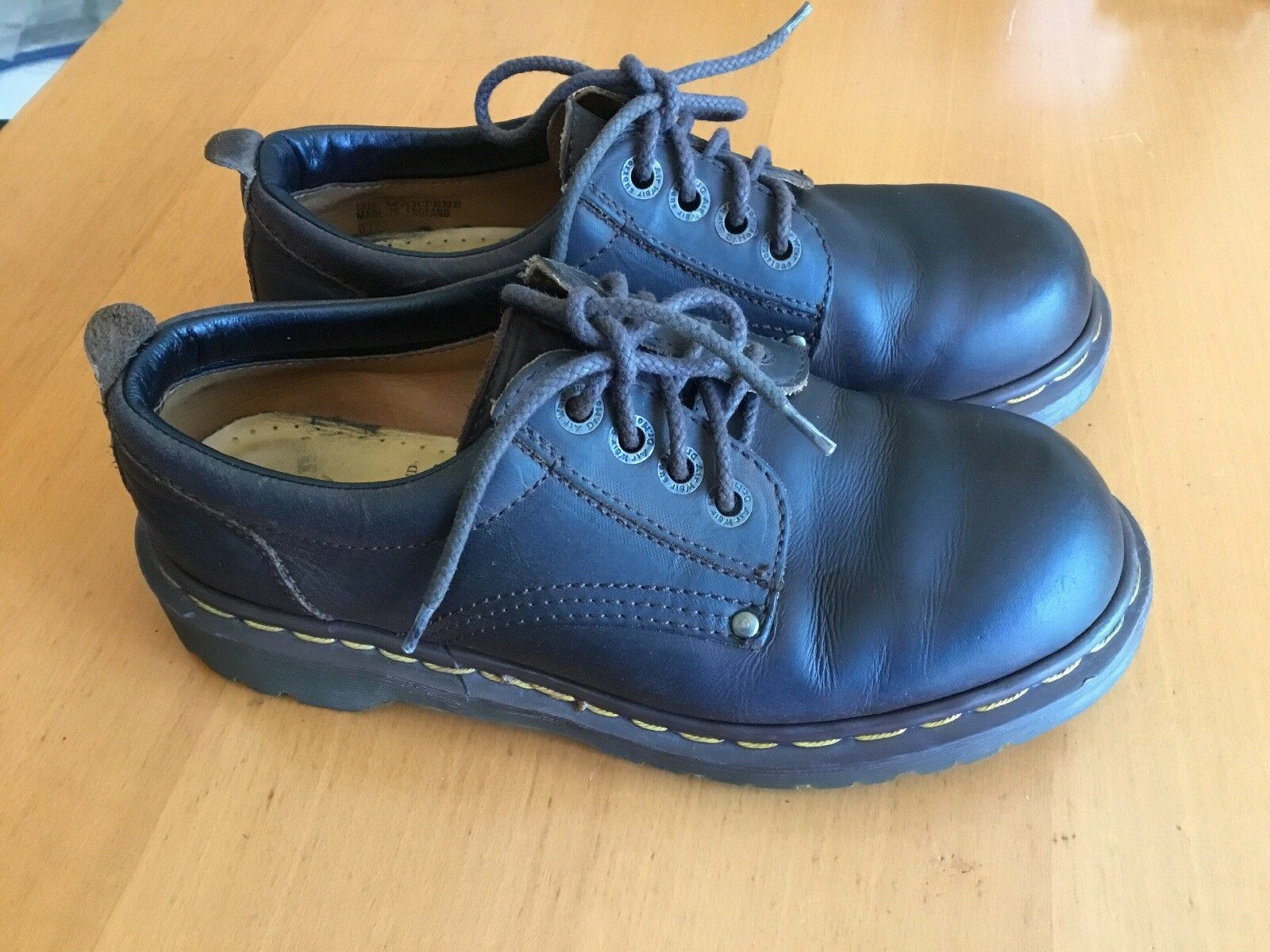 Dr. Martens Steel Toe Safety shoes  Leather Upper Air Cushion Sz.6