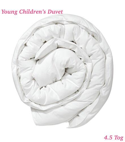 Single SS White Blended Cotton 3ft Young Children/'s Duvet 4.5 tog 135x200cm