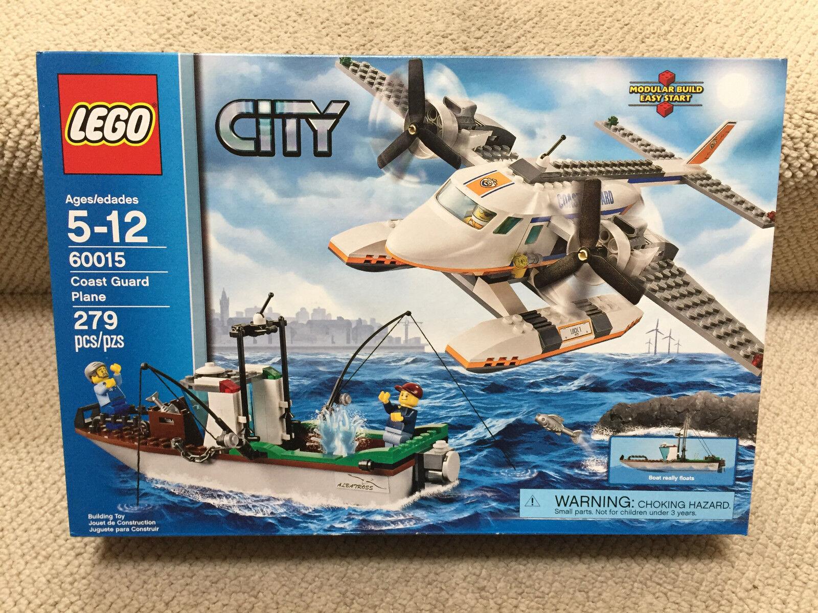 Nuevo Lego City Guardacostas avión (60015) retirado y difícil de encontrar Juguete Set difícil de encontrar