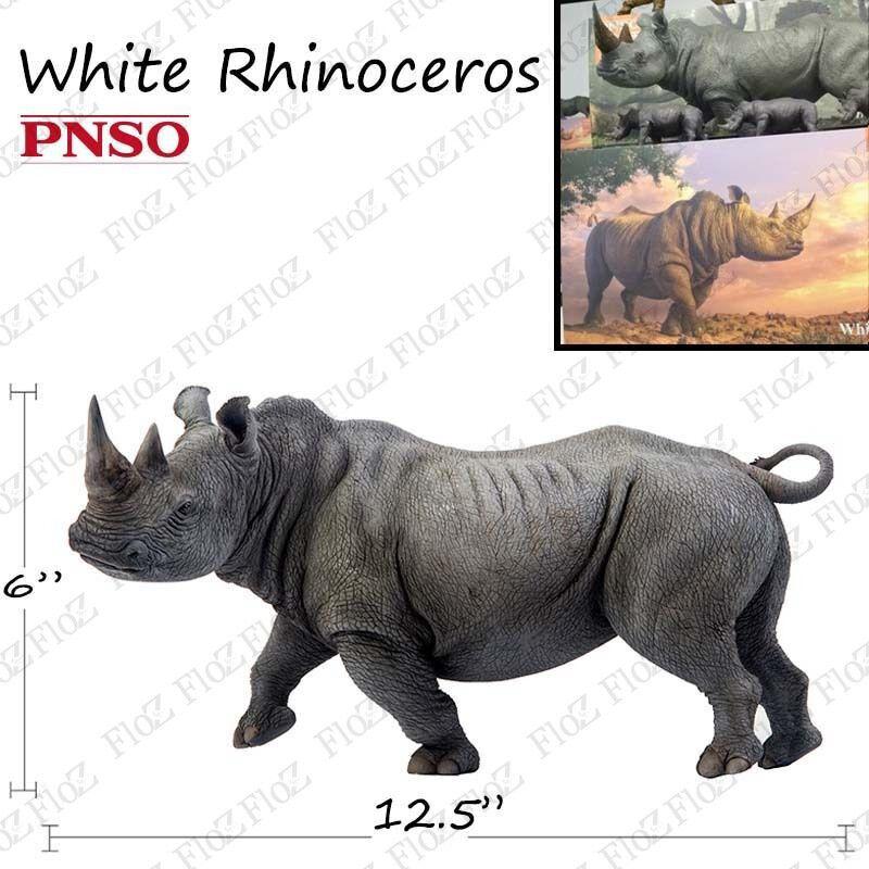 las mejores marcas venden barato Pnso blancoo Rhino rinocerontes Vida Silvestre científico arte realista realista realista figura de modelo de gran tamaño  mejor reputación