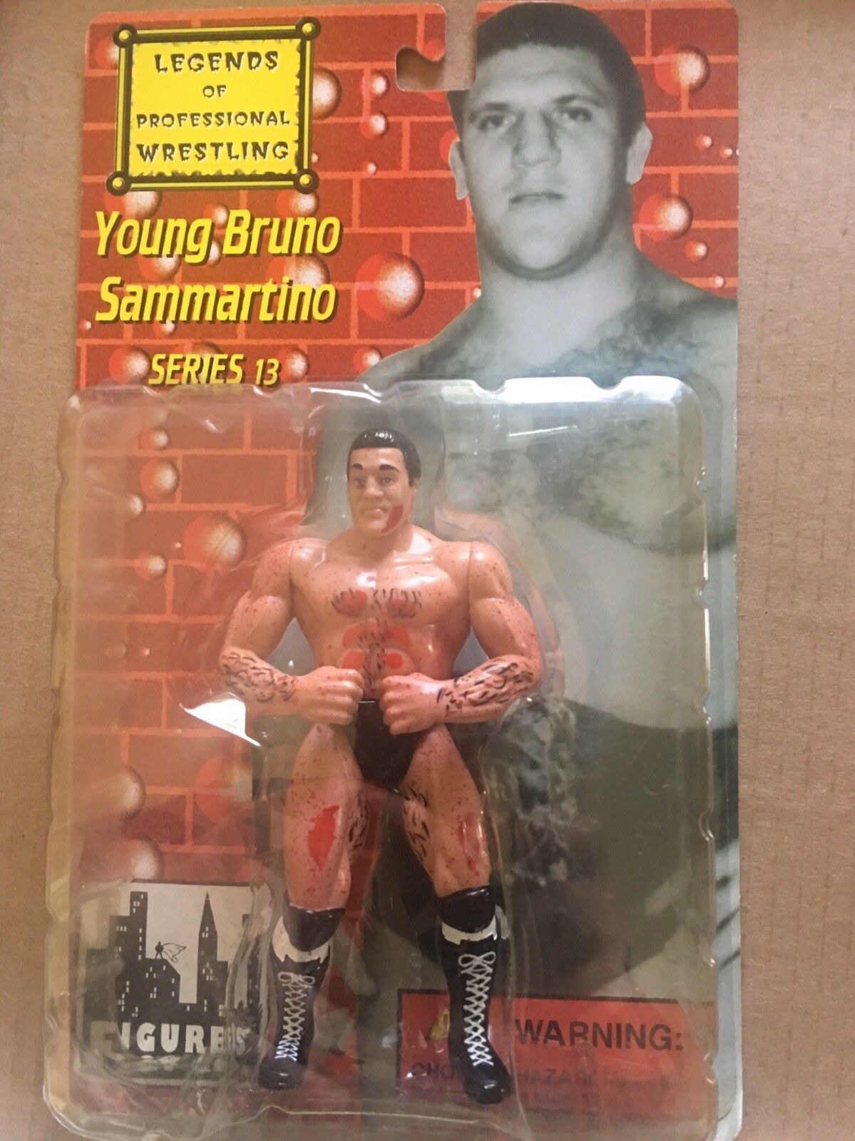 Legends of Professional Wrestling Young Bruno Sammartino Bloody Series 13  NEW