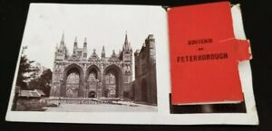 POSTCARD VIEW MAIL CARD PULLOUT VIEWS OF PETERBOROUGH,SOUVENIR, POSTED1912(09)