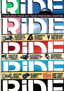 Various-Issues-of-RIDE-Magazine-from-November-1995-to-December-2004