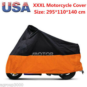 Motorcycle Outdoor Rain Sun Dust Cover Bag Fit For Honda Goldwing 1200 1500 1800