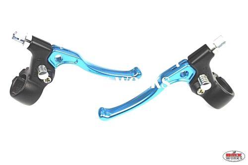 Tech 5 BMX Brake Levers Pair Bright Blue Dia-Compe 183 Old School BMX