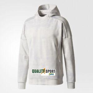 in vendita 7c0b4 81d6c Details about Adidas ZNE Pulse Jacquard Grigio Fantasia Felpa Con Cappuccio  Uomo BQ7056