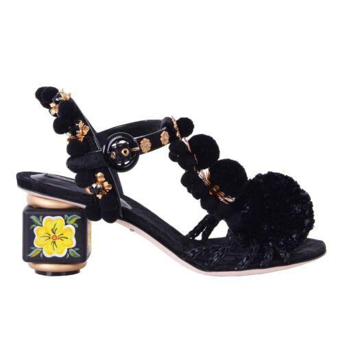 neri Fiori Pom 06668 di Sandali strass Keira Dolce Gabbana con fiori 08gwngzRq