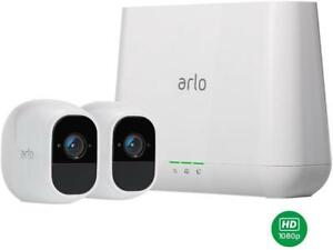 NETGEAR-Arlo-Pro-2-Security-Camera-System-2-Rechargeable-Battery-Powered-Wire