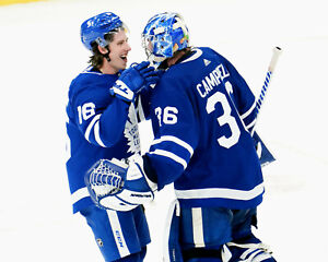 Jack Campbell and Mitch Marner Toronto Maple Leafs - Unsigned 8x10 Photo