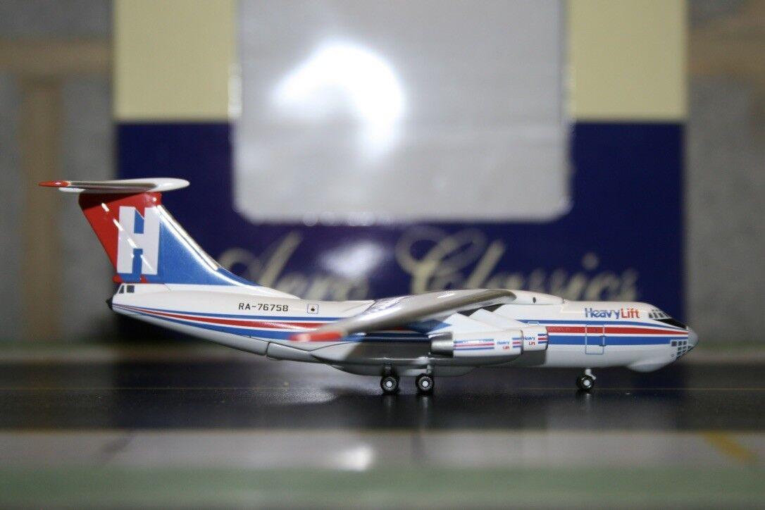 Aeroclassics 1 400 Heavy Lift Ilyushin IL-76 RA-76758 (BCRA76758) Model Plane
