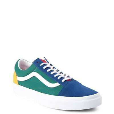 Vans Old Skool Yacht Club Color Block Blue Green Yellow Mens NEW | eBay
