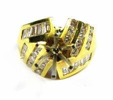 Diamond Women Engagement Ring Semi Mount Setting 1.25CT VS1 18K Yellow Gold 9.1g
