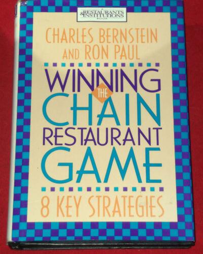 1 of 1 - WINNING THE CHAIN RESTAURANT GAME ~ Charles Bernstein & Ron Paul ~ HARDCOVER