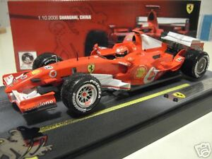 F1-FERRARI-2006-SHANGHAI-CHINE-248F1-SCHUMACHER-WINNER-au-1-18-HOT-WHEELS-J2995