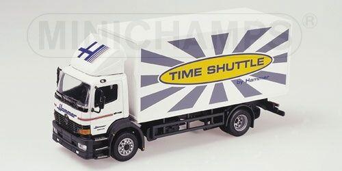 Noël coloré Mercedes Atego Atego Atego Box Truck Hammer Timeshuttle 1:43 Model MINICHAMPS   Brillance De Couleur  8418a3
