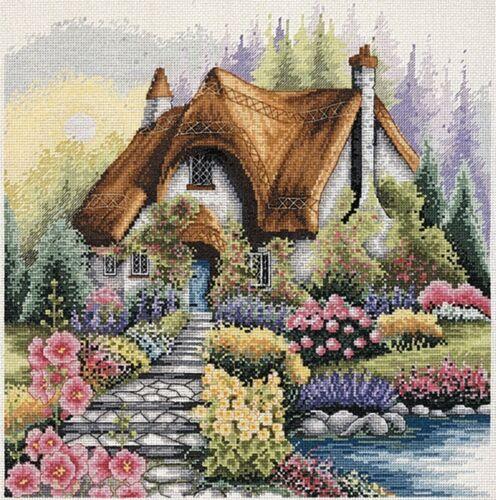 Anchor-contati Punto Croce Kit-Lakeside Cottage-pce922