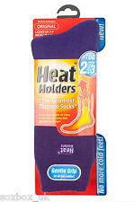 Ladies Plain Thermal Heat Holder Socks size 4-8 Uk, 37-40 Eur, 5-9 us Purple